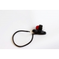 Фонарь выносной габаритный LED красно/белый, с кабелем 0,5 м,12/24 V, рожок прямой короткий  на овальной подставке
